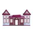 neighborhood houses facade architecture design vector image