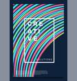 neon poster retro design 80s sci-fi pattern vector image vector image