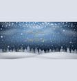 new year winter landscape with white snow border vector image