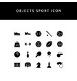 object sport glyph style icon set vector image vector image