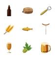 Oktoberfest icons set cartoon style vector image vector image