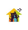 property music logo icon design vector image vector image