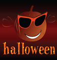 pumpkin with glass for halloween vector image vector image