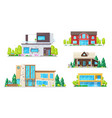 real estate houses villas and bungalow buildings vector image vector image