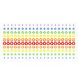 recycle arrows shape halftone spectral grid vector image