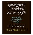 retro brush script lettering font handwritten vector image vector image