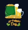 saint patrick days card vector image vector image