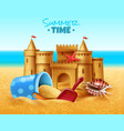 sand castle realistic vector image vector image