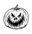 scary halloween pumpkin design element vector image vector image