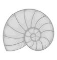 Sea shell icon gray monochrome style vector image vector image