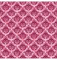 seamless baroque damask luxury pink background vector image