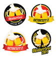 Set of Oktoberfest labels badges menu elements vector image