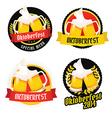 Set of Oktoberfest labels badges menu elements vector image