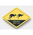 sign attention kangaroo and shadow vector image