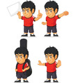 Soccer Boy Customizable Mascot 10 vector image vector image