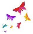 Spring Origami butterfly vector image vector image