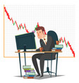 stock market investment and trading concept vector image vector image
