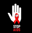 STOP AIDS Symb 02 vector image vector image
