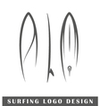 Surfing logo design vector image