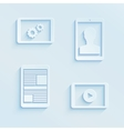 Tablet pc icons and different process screens vector image