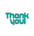 thank you greeting card icon vector image