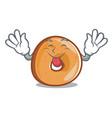 tongue out bagels mascot cartoon style vector image vector image