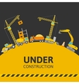 Under Construction Composition vector image