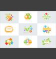 vitamins logo set colorful vector image vector image