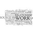 who wants to work text word cloud concept vector image vector image