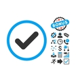 Yes Flat Icon with Bonus vector image vector image