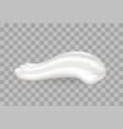 yummy whipped cream closeup vector image
