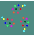 colored balls on a green background-01 vector image