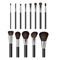 Makeup brush isolated on white background vector image