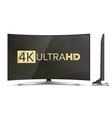4k tv screen uhd sign tv ultra hd vector image vector image