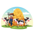 A farm vector image