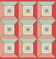 abstract geometric christmas square vector image vector image