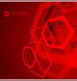 abstract geometric overlapping hexagon shape vector image vector image