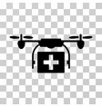 ambulance drone icon vector image