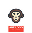 ape chimp logo element vector image vector image