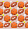 basketball ball activity leisure sport seamless vector image vector image