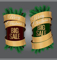 big christmas sale label vector image vector image