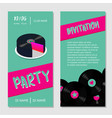 birthday music cake dance party bilateral vector image vector image