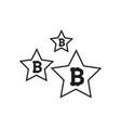 bitcoin coin with stars abstract falling bitcoin vector image vector image
