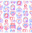blood donation mutual aid seamless pattern vector image vector image