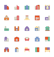 Building and Furniture Icons 5 vector image vector image