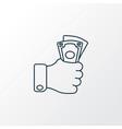 cash money icon line symbol premium quality vector image