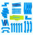 celebration ribbons set isolated on white vector image vector image