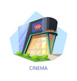 cinema building for watching film and movie vector image vector image