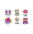 cinema logo design collection bright original vector image vector image
