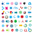 collection of abstract universal character vector image vector image